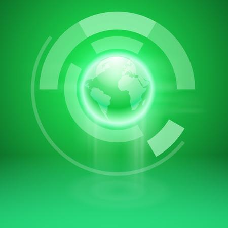 Abstracte groene achtergrond met de hele wereld. EPS10 vector.