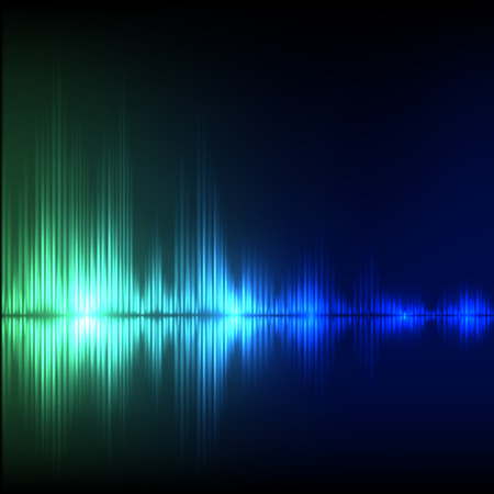 Abstract equalizer background. Blue-green wave. EPS10 vector.