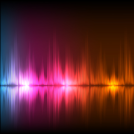 Abstract equalizer background. Blue-purple-orange wave. EPS10 vector.