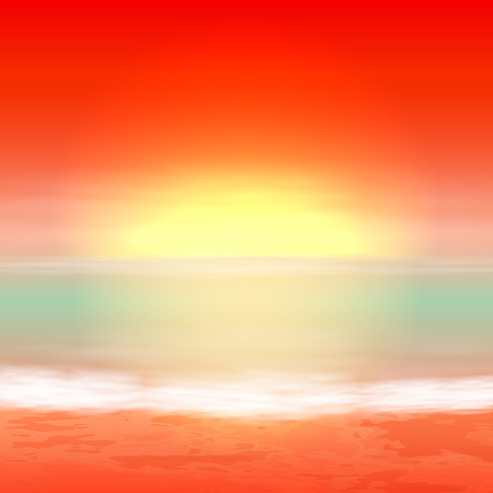 Sea sunset, tropical summer background.