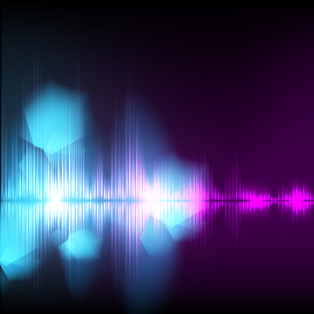 Abstract equalizer background. Blue-purple wave.