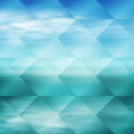 Tropical sea sunset beach geometric background