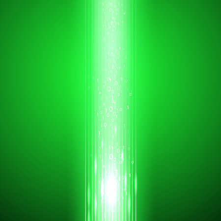 Green background with stream of binary code