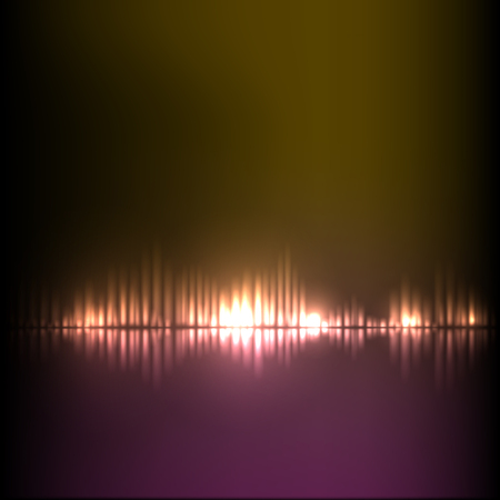 Purple-yellow wave abstract equalizer