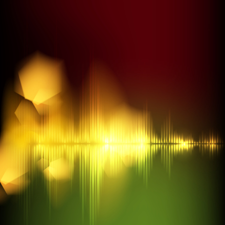 Abstract colorful equalizer background. Yellow-red wave. EPS10 vector.