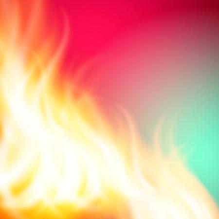 Abstrakter grüner rosa Feuerhintergrund für Ihr Design. EPS10-Vektor. Vektorgrafik