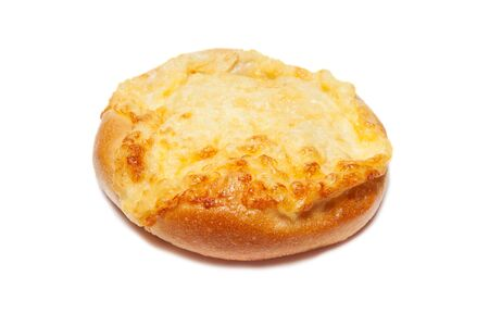 One cheese buns isolated on white background Stock Photo