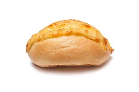 One cheese buns on a white background