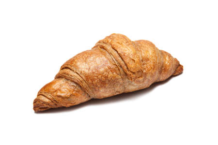 Fresh french croissant isolated on white background