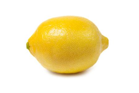 Fresh ripe lemons isolated on white background.