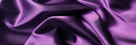 Abstract background luxury cloth or liquid wave or wavy folds of silk texture satin material. Purple background for banner design. Stok Fotoğraf
