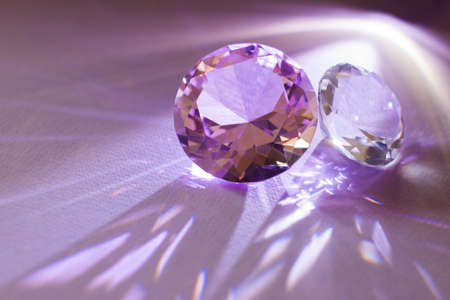 Precious gemstones for design gems jewelery Standard-Bild