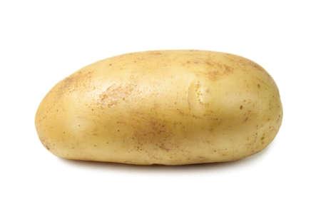 Raw Harvest potatoes isolated on white background.