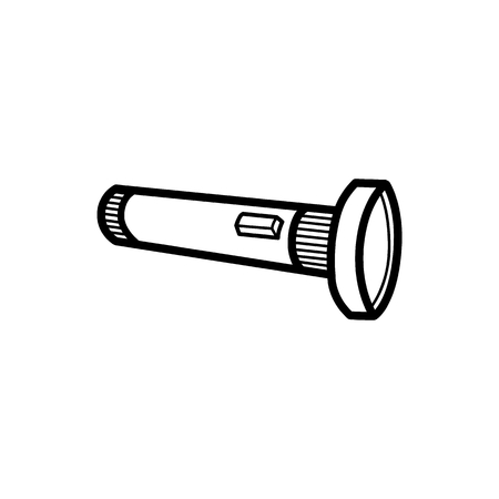 Flashlight illustration for Adventure item, with detailed vector Vectores
