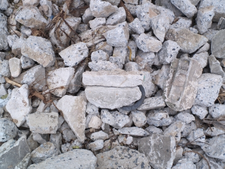 Pile of concrete waste photo