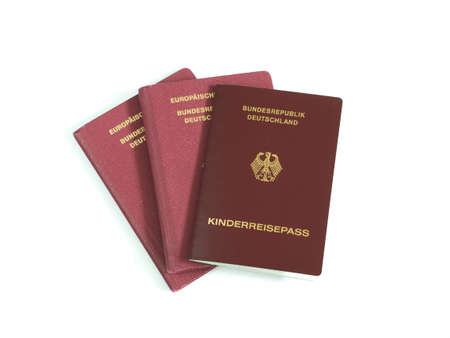 family isolated: German Family Passports isolated white background