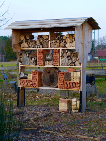 nature protection: Insect Hotel Nature Protection High