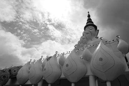 buddha image: image of buddha and sky