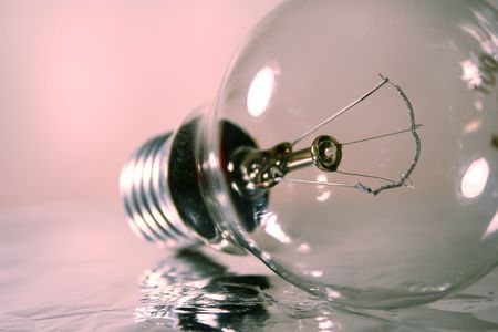 source of iron: light bulb in gray & silver mood