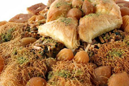 collation: Arabic sweet pastries & dessert