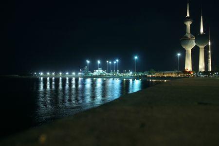 kuwait: kuwait towers by night