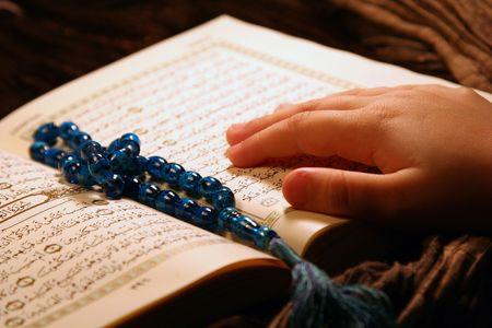 Worshiping  & holy koran photo