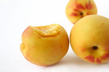 isolated peache fruit Stock Photo - 3009386