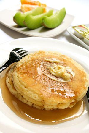 Pancakes and honey photo