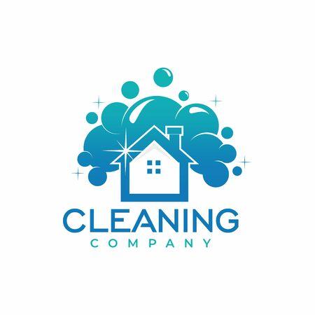 Cleaning Company Logo Design Vector Archivio Fotografico - 138465219
