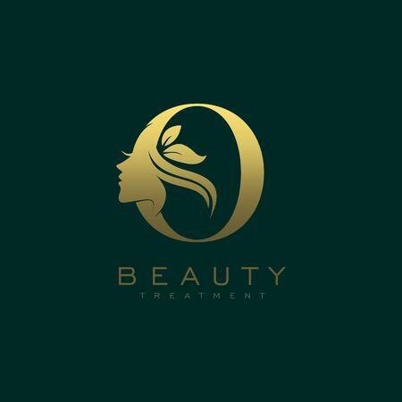 Letter O Luxury Beauty Face Logo Design Vector