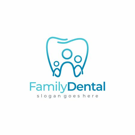 Dental Family Tooth, Dentist Logo Graphic