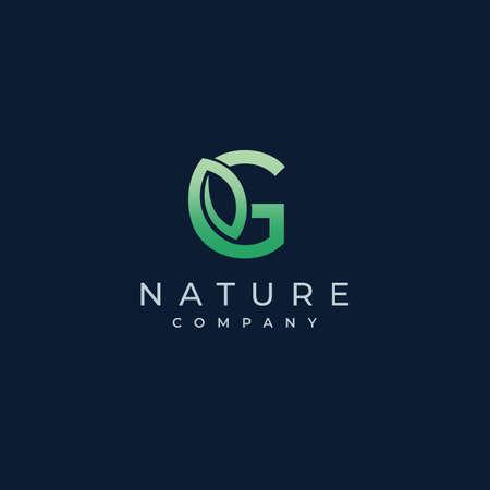G Letter Leaf Logo Icon Design Vector
