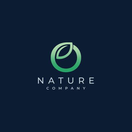 O Letter Leaf Logo Icon Design Vector