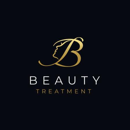 Letter B Beauty Face Design