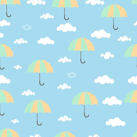 illustration design graphic of seamless pattern  umbrella and sky Stockfoto - 151126372