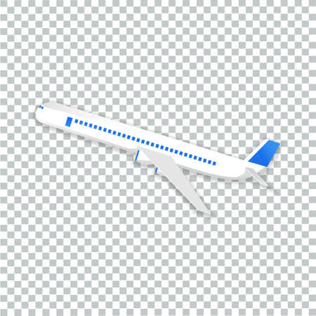 vector of airplane flying transparent background