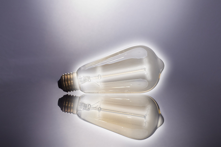 light bulb on dark background, concept of creativity.