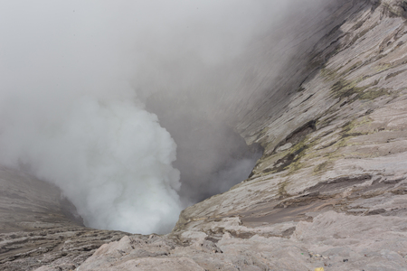 Kawah Bromo, Mount Bromo in Bromo Tengger Semeru National Park, is an active volcano and part of the Tengger massif, in East Java, Indonesia