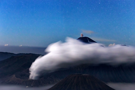 Mount Bromo, is an active volcano and part of the Tengger massif, in East Java, Indonesia. Фото со стока