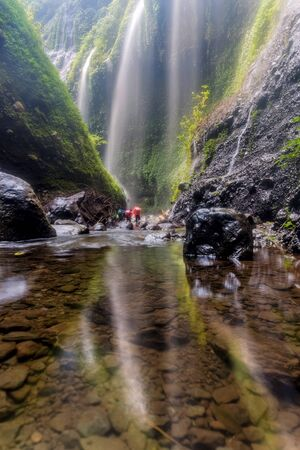The beautiful madakaripura waterfall in east java, Indonesia Stok Fotoğraf