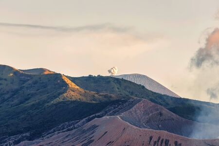 Beautiful landscape Of Mount Bromo Indonesia during the evening day