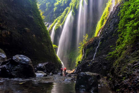 The beautiful madakaripura waterfall in east java, Indonesia Editöryel