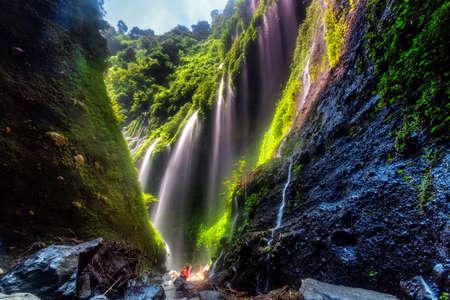 The beautiful madakaripura waterfall in east java, Indonesia Редакционное