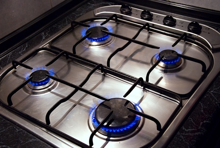 Detail image of kitchen stove.