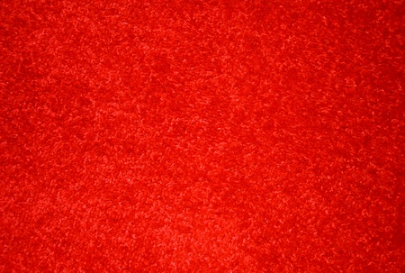 carpet stain: Red carpet on the floor. Stock Photo