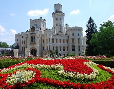 Altes Schloss Hluboka nad Vltavou in Tschechien.