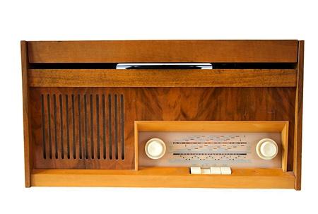 Retro vinyl gramophone. photo