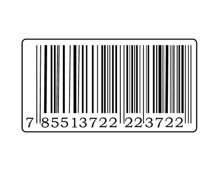 Detail of barcode label with number. Stock Vector - 9355644