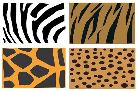 Detail-Illustration der Tiere Pelz Muster.