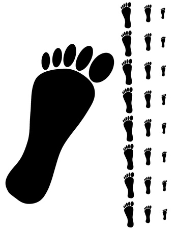 Detail of black foot on the white background. Stock Vector - 9380907